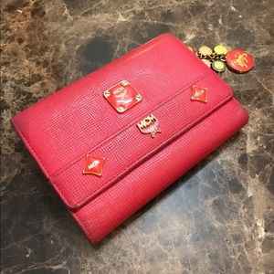 MCM trifold wallet with charms